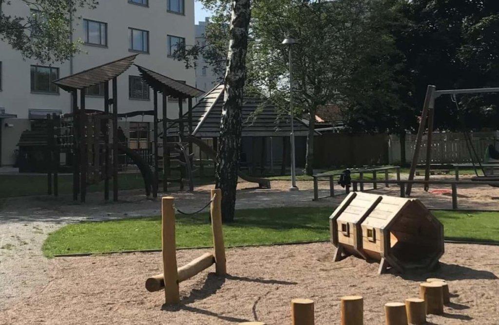 Bild på gården på Västra Mark förskola