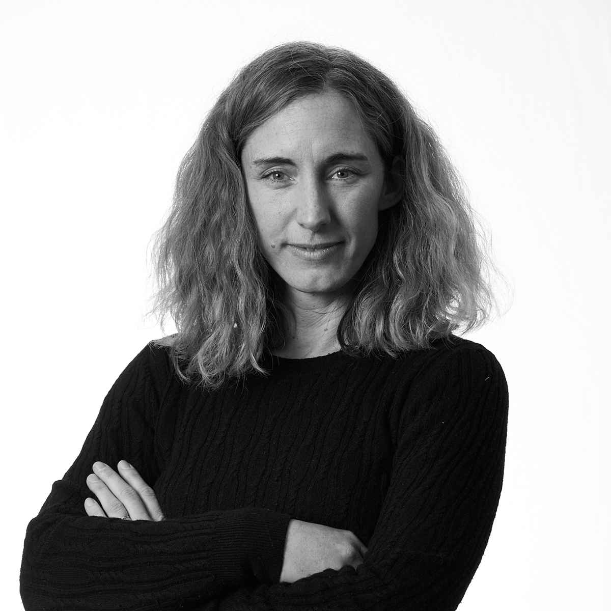 Christiane Candella porträtt svartvit