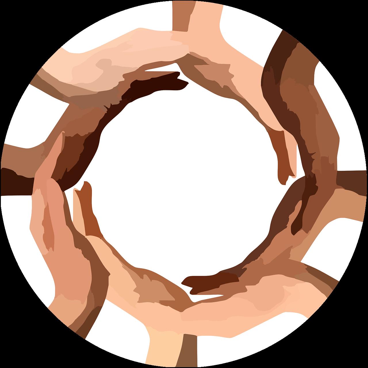 Cirkel av händer